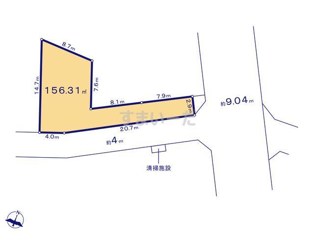 クレイドルガーデン 千葉市花見川区作新台 第15の見取り図
