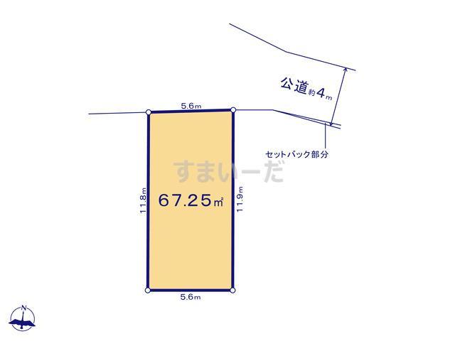 グラファーレ 横浜市谷津町8棟の見取り図