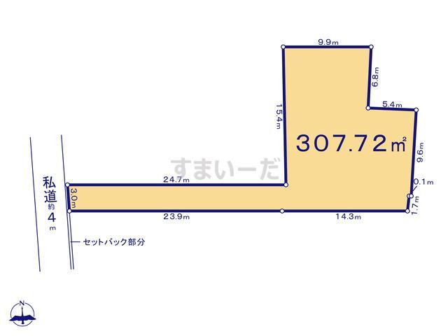 クレイドルガーデン 横浜市泉区下和泉 第12-II期の見取り図