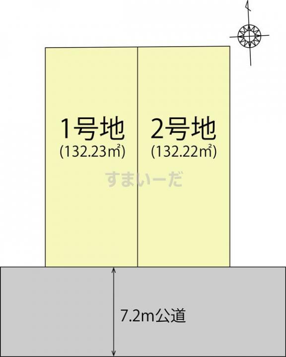 土地 ブルーミングガーデン 名古屋市港区高木町5丁目2区画の見取り図