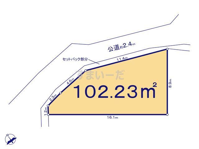 グラファーレ 横浜市川井本町4期5棟の見取り図