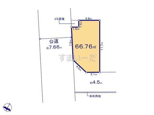 ハートフルタウン 足立区加賀8期の見取り図