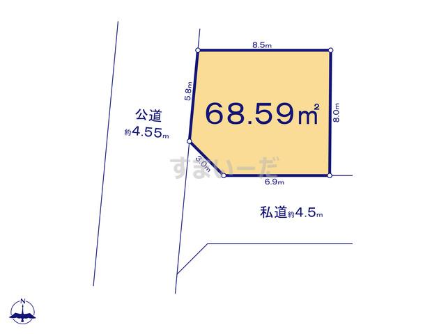 クレイドルガーデン 葛飾区新宿 第8の見取り図