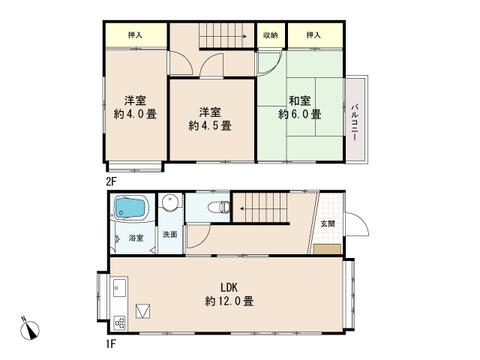 3LDKの無駄のないつくりで作られたお住まいです。お部屋にある収納を使って無駄ないミニマムな生活ができそうです。