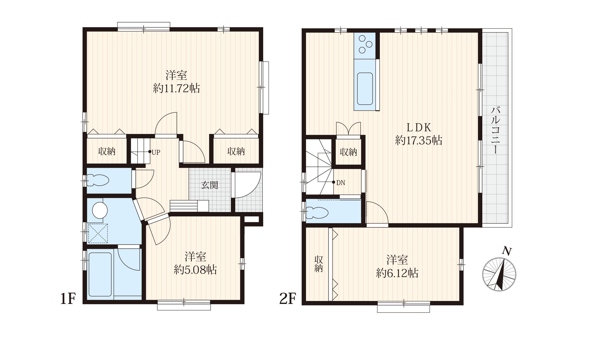 ■3LDK 、主寝室広々約11.72帖、角地