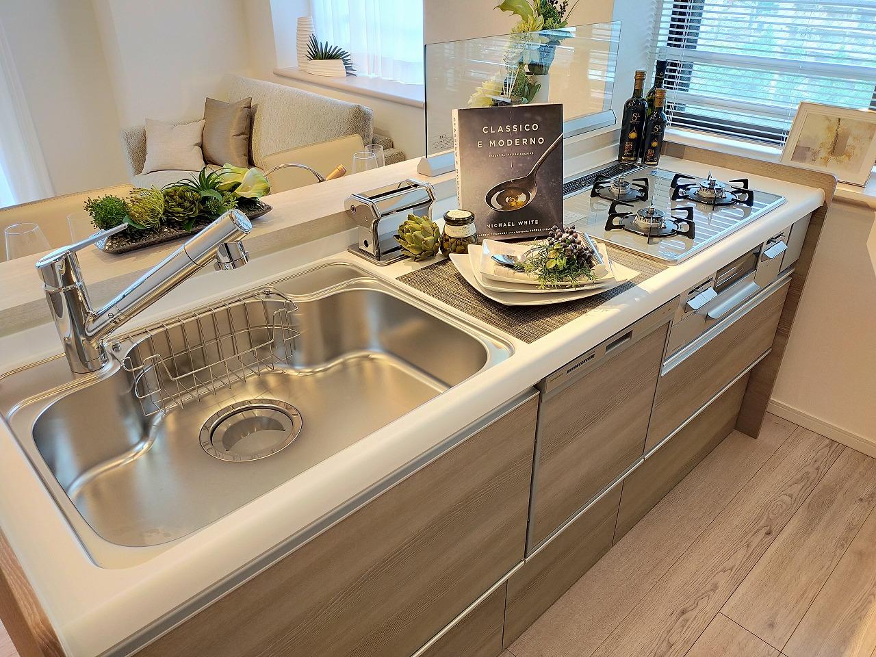 食洗機・浄水器一体型水栓付きシステムキッチン(新規交換)