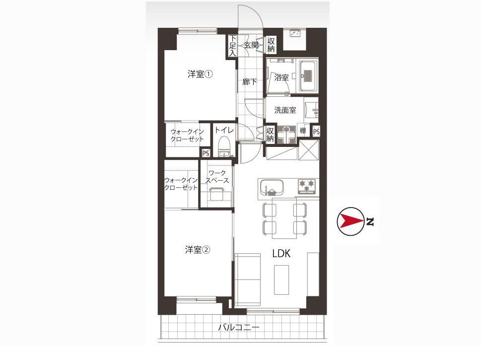 ■ワークスペース付■玄関廊下大理石貼り■平成築・新規内装リフォーム物件