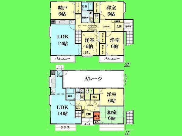 【間取り】二世帯住宅タイプの広々5SLDKです