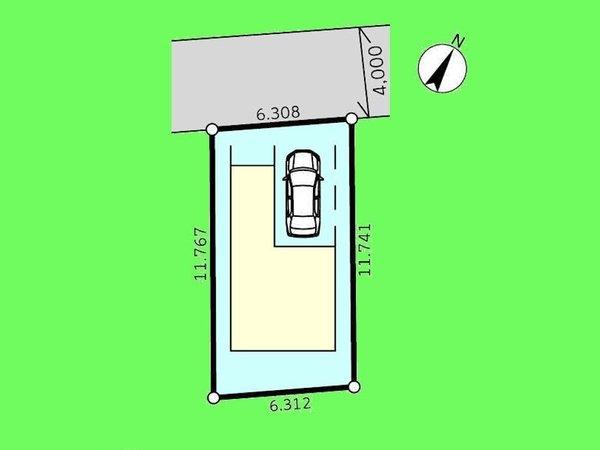 【区画図】ビルトインガレージ1台分ございます