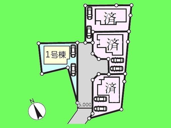 【区画図】カースペースは2台分