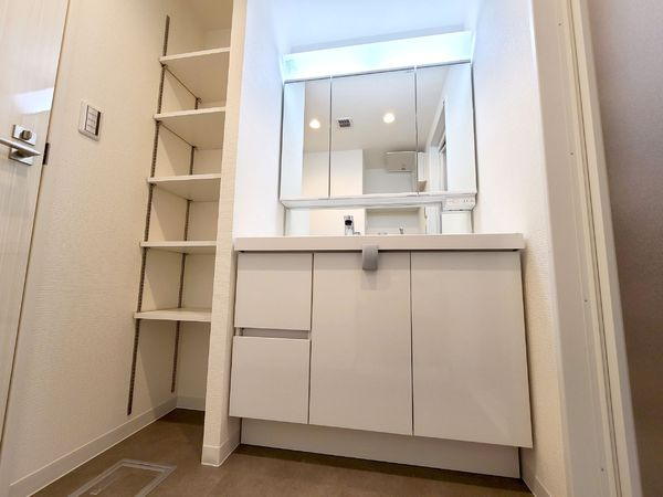 【洗面台・洗面所】収納豊富な洗面スペース