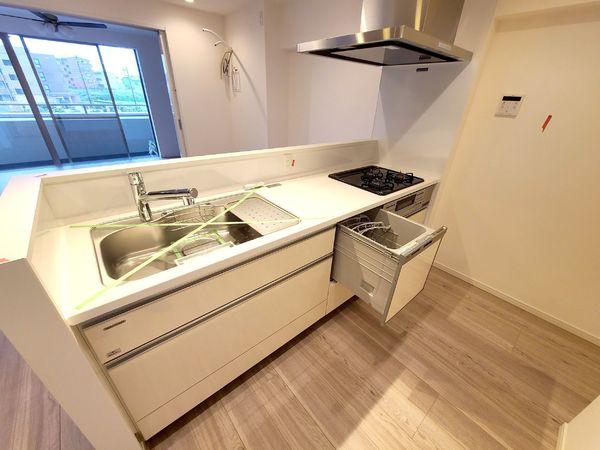 【キッチン】食洗機完備で日々の家事を時短に