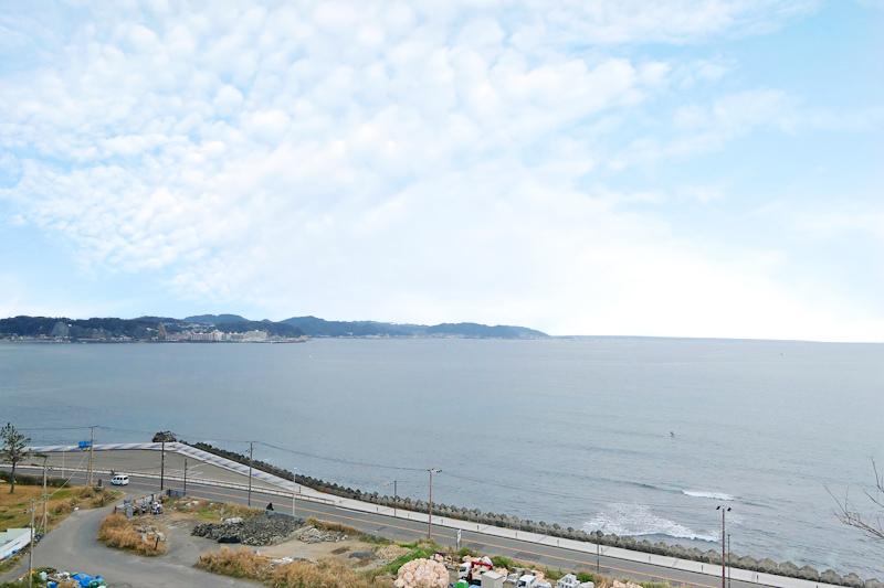 海見えの眺望です。畑としては利用...