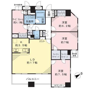 100平米超のプレミアム住居です