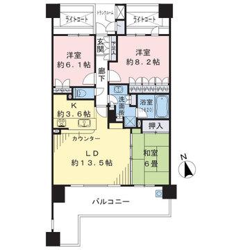 専有面積83㎡、南向きの3LDKのお部屋です!