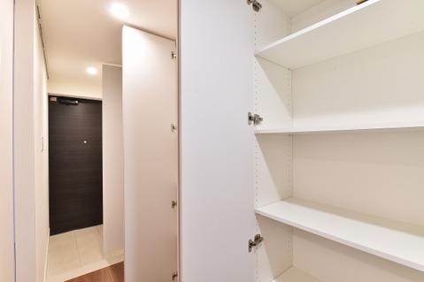 パントリーやリビング収納あり、お部屋スッキリ片付きます。