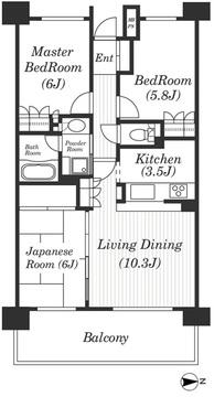 3LDK(専有面積68.11平米)