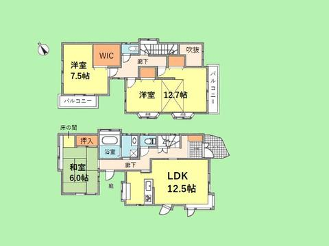 3LDK+庭 土地面積110.23平米、建物面積121.86平米
