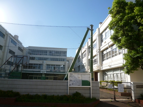 横浜市立日吉台西中学校 距離1400m