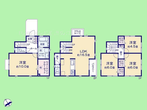 4LDK 土地面積86.5平米、建物面積106.81平米
