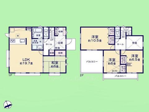 4LDK 建物面積115.02平米 土地面積193.06平米