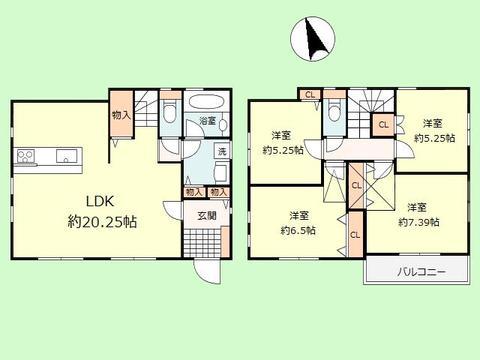 4LDK 建物面積101.25平米 土地面積130.17平米