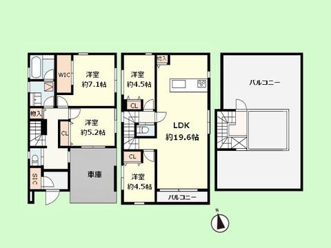 4LDK 建物面積115.15平米 土地面積91.78平米