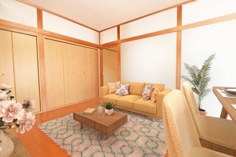落ち着きのある室内は飽きのこない居心地の良い雰囲気(家具は全てCGです)
