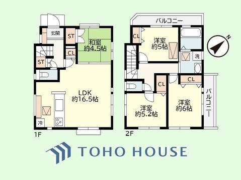 4LDK+小屋裏収納 土地面積111.58平米、建物面積88.28平米