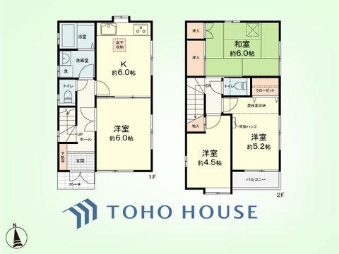 4DK+屋根裏収納 土地面積71.02平米、建物面積68.16平米
