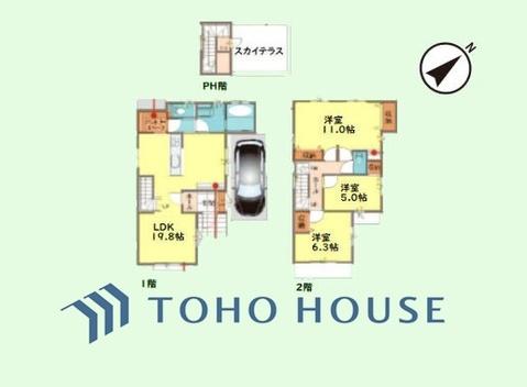 3LDK 土地面積100.01平米、建物面積107.64平米