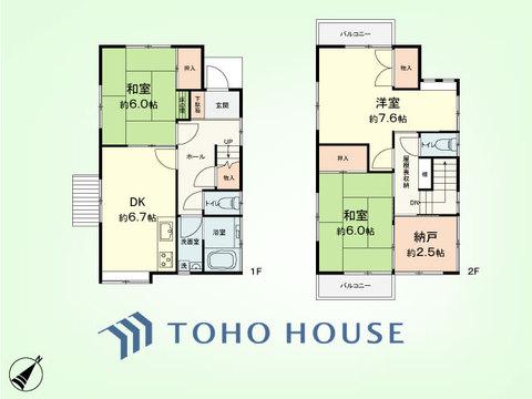 3SDK+屋根裏 建物面積69.97平米、土地面積89平米