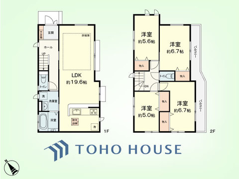 4LDK 土地面積140.08平米、建物面積101.85平米