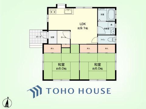 2LDK 建物面積50.3平米、土地面積218平米