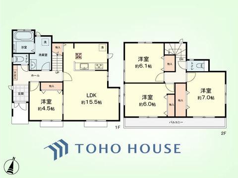 4LDK 建物面積94.70平米 土地面積110.26平米