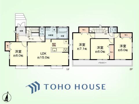 4LDK 建物面積95.32平米 土地面積110.10平米