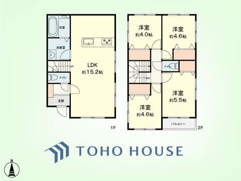 4LDK 土地面積140.87平米、建物面積90.05平米