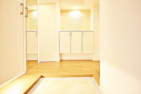 広々とした玄関に、全身鏡で身だしなみも整えられますね