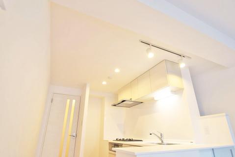 キッチンにはオシャレな空間を演出するダウンライトを設置