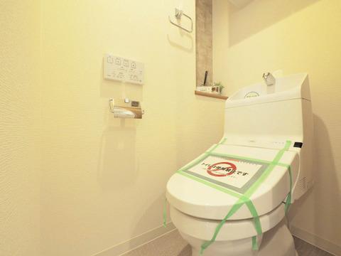 清潔な洗浄機能付温水シャワートイレ