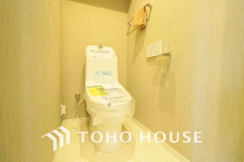 白を貴重とした落ち着きのあるトイレ