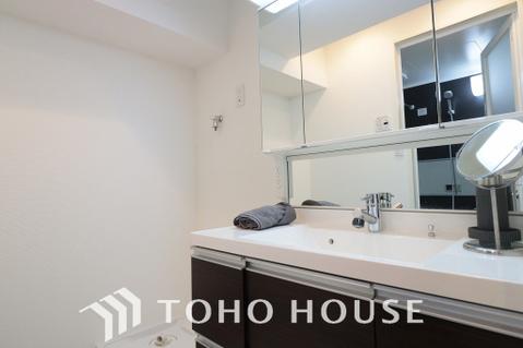 豊富な収納スペース、身支度のしやすい洗面所