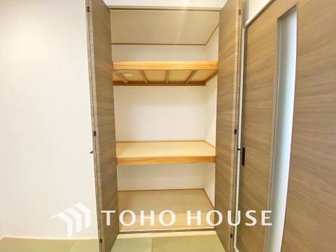 和室にも収納があり、お荷物をスッキリしまうことができます