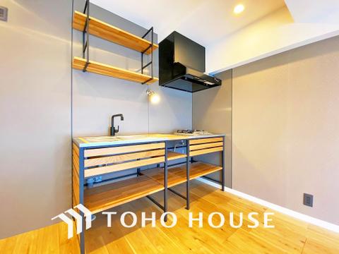 個性的でオシャレなデザインのキッチン